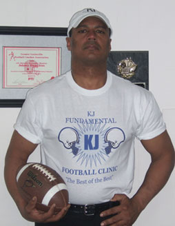KJ Fundamental Football Clinic Coach Hamilton Picture