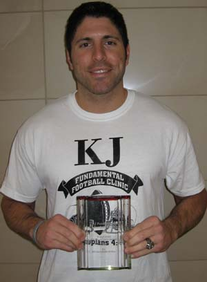 KJ Fundamental Football Clinic Coach KJ Leadership 2010 Award Picture